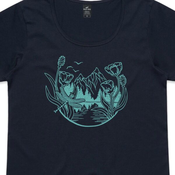 Mountain Dragonfly Womens Navy t-shirt