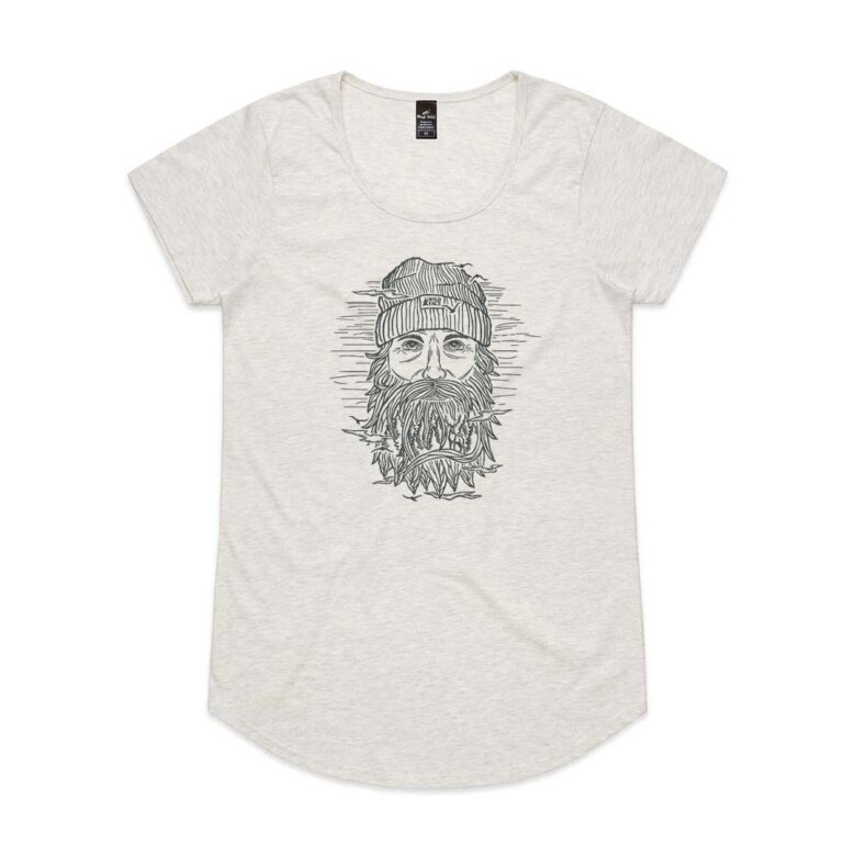 Wild Face Womens Oatmeal Marle t-shirt