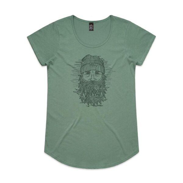 Wild Face Womens Sage t-shirt