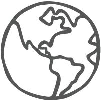 Ethically Made Globe Icon